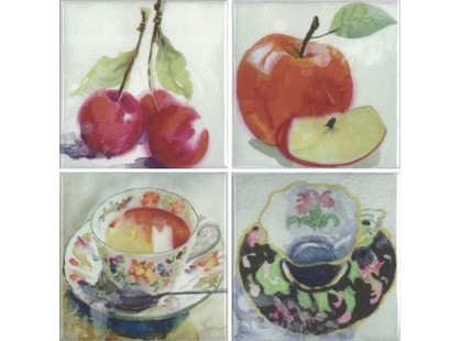 Absolut Keramika Acuarela Frutas Set A 4пл