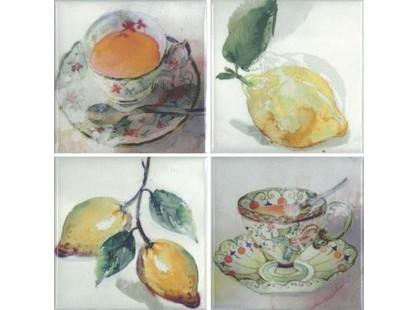 Absolut Keramika Acuarela Frutas Set B 4пл