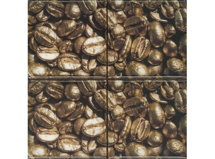 Absolut Keramika Monocolor 100х100 Biselado Set Coffee Beans 01 (4pzs)