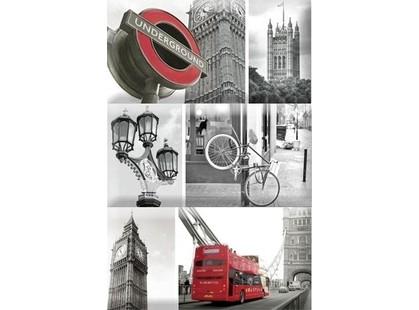 Absolut Keramika Monocolor 7.5х15 Biselado Composicion London Calling D