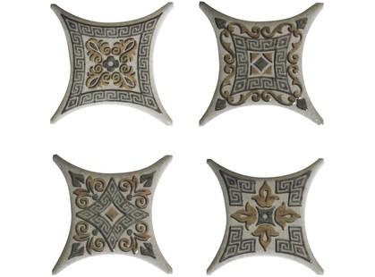 Absolut Keramika Vecchio,Barelli,Striato Estrella Set 01 Gris (4 вида mix)