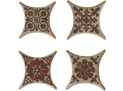 Absolut Keramika Vecchio,Barelli,Striato Estrella Set 02 Beige(4 вида mix)