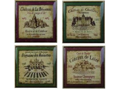 Amadis Fine Tiles Wine Wine Label Decos (set 4 pcs)