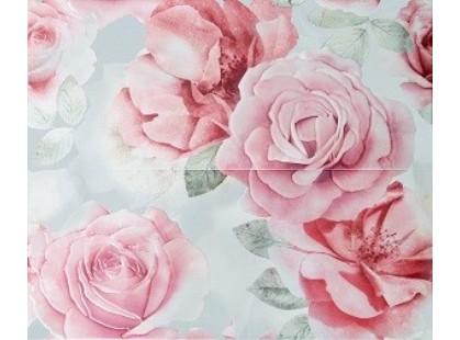 Articer Floreale onyx Rosone Flor.Grigio 2PZ