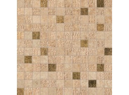 Atlas Concorde Sunrock Bourgogne Sand Mosaico Gold
