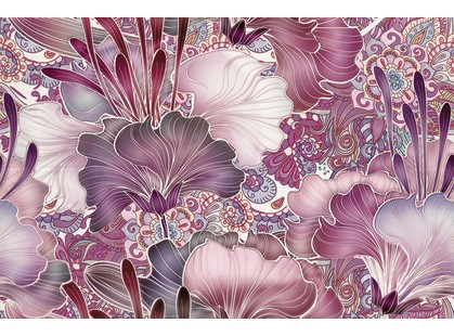 Azulejos alcor Geneve Decor Vidriera Violet R225 (из 2х пл)