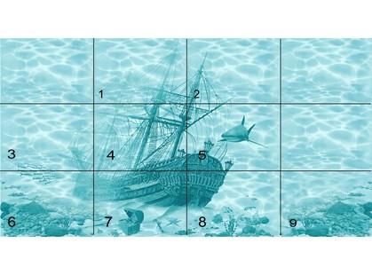 Березакерамика Лазурь Панно Корабль (9 пл)
