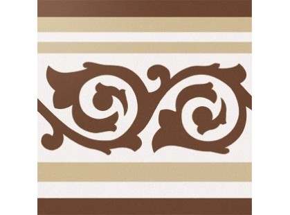 Cas Ceramica Anastasia Border Brown