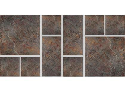Castelvetro Rosso Vulcanishe Diorite Mosaico