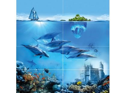 Ceramica Classic Ocean Deep Ocean Deep Панно P8D302 80х80 (из 8 плиток)