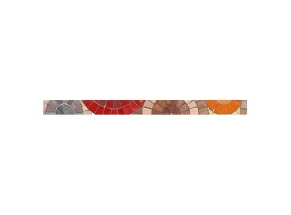 Ceramicalcora New York Listelo Bufalo 4,3 Rojo