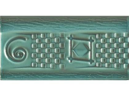 Cevica Antic Cenefa Azteca Lava Verde