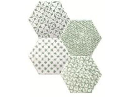 Cevica Marrakech Mosaic Verde Hexagon