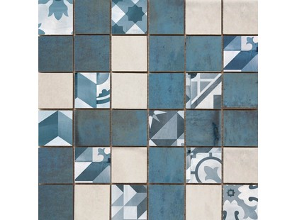 Cifre Montblanc White Blue Mosaico Blue