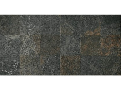 Cisa Ceramiche Slate Ramage Black