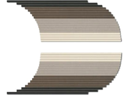 Coem Tinte Unite Xs Degrade Semitondo Sx-dx Warm