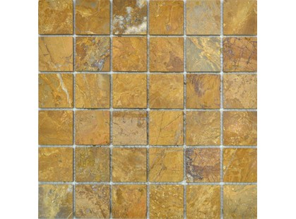 Colori Viva Natural Stone CV20014	Mos.Polished Golden Travertin 5x5