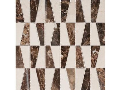 Colori Viva Natural Stone CV20138Mos.Mix.Polished Spainish (Геометрическая)Crema Marfil/Dark Emperador