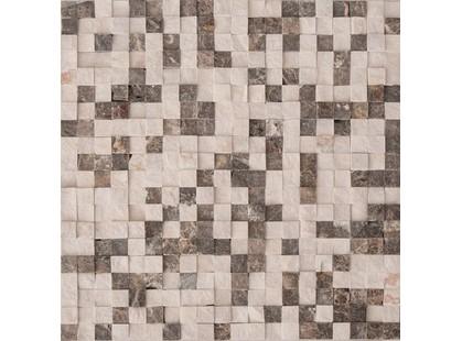 Colori Viva Natural Stone CV20146 Mos.Dark Emperador+ Sand Gray Split 1.5x1.5