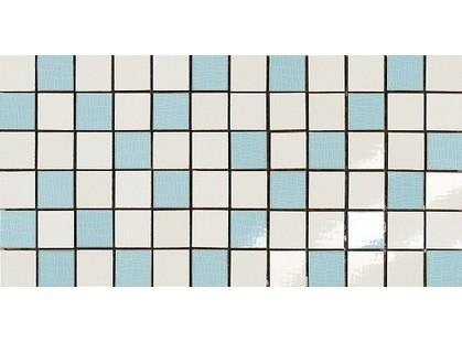 Dado Ceramica Alterego Mosaico  Platino Bianco-Celeste