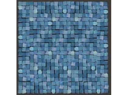 Del Conca Corti Di Canepa Glamour мозаика на сетке 1,5х1,5 Blu