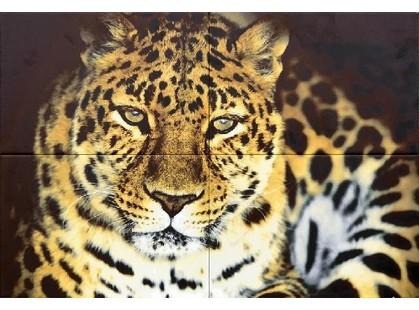 "Дельта Керамика Леопард декоративные элементы ПН4ЛППГ  ""Леопард""   (из 4-х плиток)"