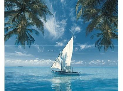 Дельта Керамика Ocean 20x50 Sailboat Панно из 2-х плиток