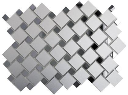 ДСТ Зеркальная плитка Серебро матовое + Графит См70Г30