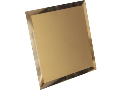ДСТ Зеркальная плитка Квадратная зеркальная бронзовая  с фацетом 10мм (КЗБ1-03)