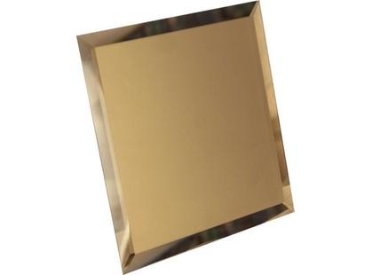 ДСТ Зеркальная плитка Квадратная зеркальная бронзовая с фацетом 10мм (КЗБ1-04)