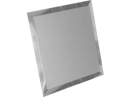 ДСТ Зеркальная плитка Квадратная зеркальная серебряная  с фацетом 10мм (КЗС1-03)