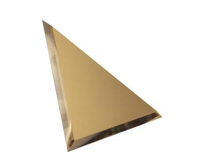 ДСТ Зеркальная плитка Треугольная зеркальная бронзовая с фацетом 10мм (ТЗБ1-01)
