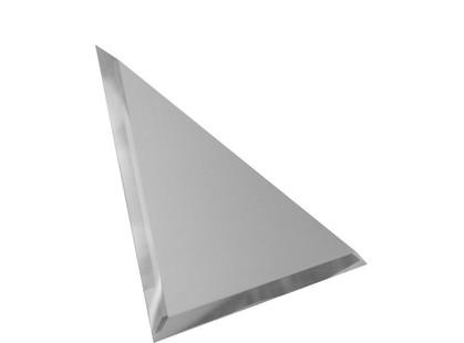 ДСТ Зеркальная плитка Треугольная зеркальная серебряная  с фацетом 10мм (ТЗС1-01)