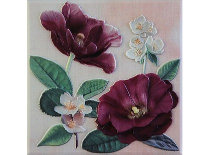 Fabresa Violetta Placa Decor Burdeos
