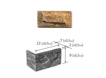 Фабрика камня Акко Угловой Элемент Серый Мрамор