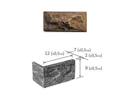Фабрика камня Акко Угловой Элемент Темный