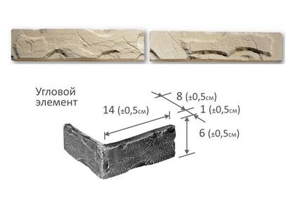 Фабрика камня Брик Угловой Элемент Белый