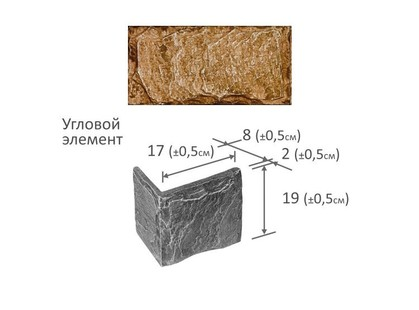 Фабрика камня Леон Угловой Элемент Розовый мрамор