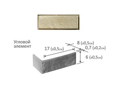 Фабрика камня Сахара Угловой Элемент Белая