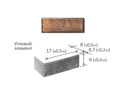 Фабрика камня Сахара Угловой Элемент Терракот