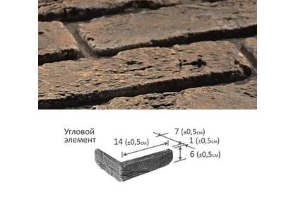 Фабрика камня Старинный кирпич Угловой Элемент 11