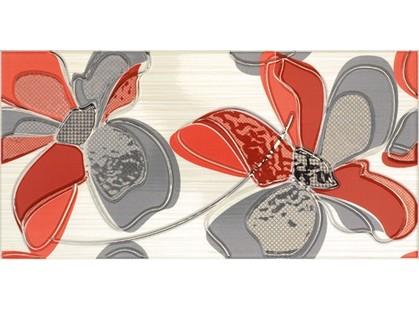 Fanal Line Decorado Flor Rojo