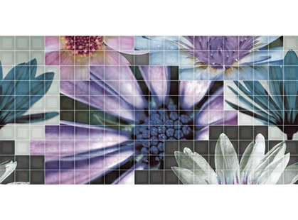 Fanal Mosaico Decor Blanco Flor-2