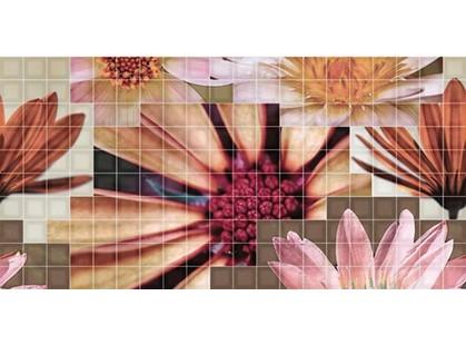 Fanal Mosaico Decor  Crema Flor-2