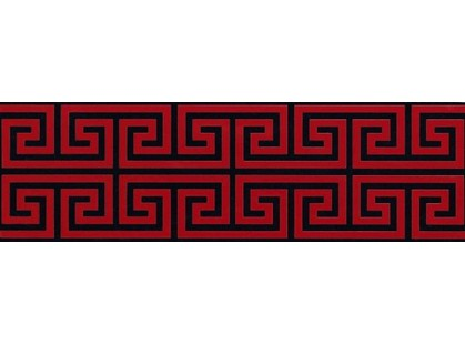 Fap Ceramiche Infinita Greca Nera/Rosso RT