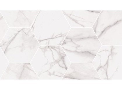 Flaviker PI.SA Supreme Royal Statuario Mosaico Hexagon Rett.