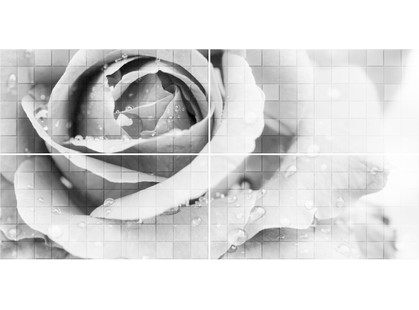Global Tile Unica 1608-0109 Graphite Роза (комплект 4шт.)