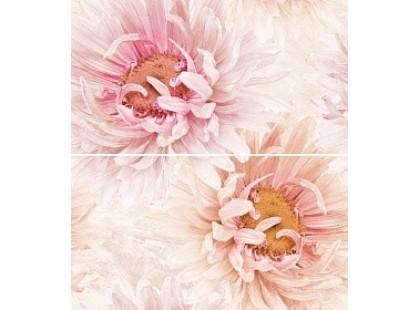 Global Tile Teseo 1605-0004 Розовый  панно Цветы из 2-х пл. в кор.4 кмп 1 \4