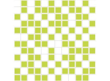 Halcon Ceramicas Aire Mosaico Organza Blanco-Pistacho