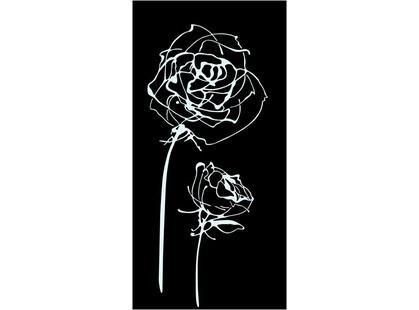 Halcon Ceramicas Blancos Decor Roses Noir